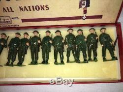 SET of 18-W BRITAINS Antique Painted Lead British Soldiers with Original Box NICE