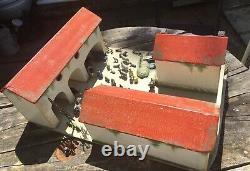 Scratch Built Wooden Farm & 48 Lead Farm Animals People Trees Etc