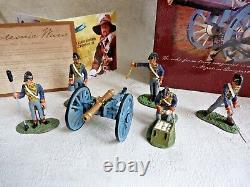 Soldat de plomb BRITAINS 00290 Waterloo royal artillery unit with cannon