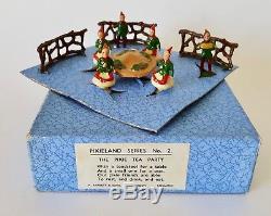 TAYLOR BARRETT & SONS, RARE PIXIE TEA PARTY, BOXED SET, 1951, Britains Lead