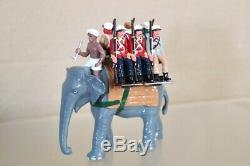 TROPHY MINIATURES ME4 INDIAN MUTINY ELEPHANT TROOP CARRIER SET BOXED pjm