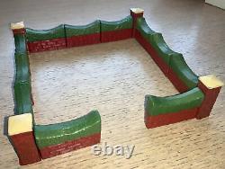 Taylor & Barrett- 11 Hedge Topped Walls & 4 Pillars. Painted Lead, Pre War