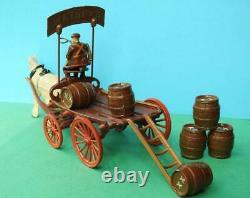 Taylor & Barrett Rare Pre-war Lead Horse Drawn Brewers Dray Complete Set No Box