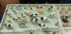 Very Large Vintage Bundle Of Used Britains Farm Animals