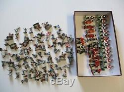 Vintage Britain And Union S Africa Toy Soldier Metal Sculpture Collection Lot
