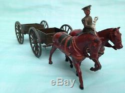 Vintage Britain's Set 1331 General Service Limbered Trailer Wagon
