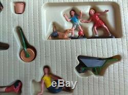 Vintage Britains 1970's, Boxed Garden Figures 7530, 54mm scale plastic