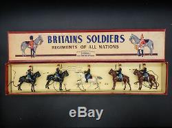 Vintage Britains BELGIAN CAVALRY Regiment Army figure set 190 ROAN box soldiers
