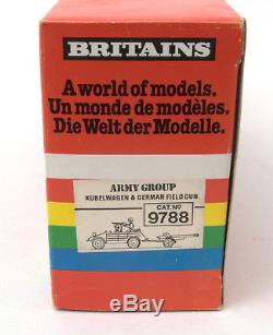 Vintage Britains Deetail German Scout Car & Field Gun No. 9788 BOXED