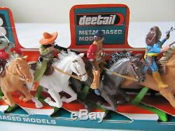 Vintage Britains Deetail Shop Display Plinth Mounted Mexicans Plastic Figures