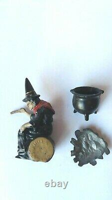 Vintage Britains Lead Jo Hill Co Witch Fire And Cauldron