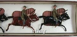 Vintage Britains Lead Toy Soldiers WWI US Army Mounted Cavalry Set #276 Box