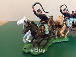 Vintage Britains No. 7464 American Civil War Gun Team & Limber. Federal Team