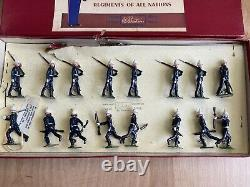 Vintage Britains Soldiers #1284 Royal Marines With Officers 16 Pcs Pre-owned