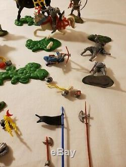 Vintage Britains Swoppets 15th Century War of the Roses Mounted Knights Lot