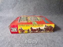 Vintage Britains Swoppets Wild West Building Series Bank (Boxed) 54mm Soldiers