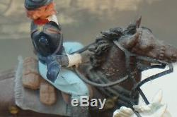 Vintage Britains Toy Soldiers CIVIL War Gun Team Limber Set Original Box Horses