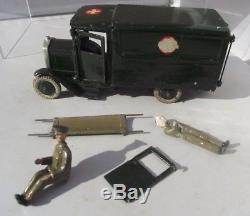 Vintage Rare Britains No. 1512 Army Ambulance Vehicle Soldiers Stretcher