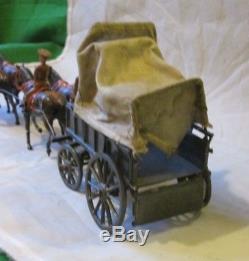 Vintage Rare Britains Ww1 British Infantry Wagon 1/32 54mm