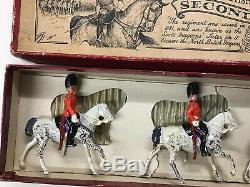 Vintage W Britain's Royal Scots Greys Second Dragoons Boxed Pre War Version