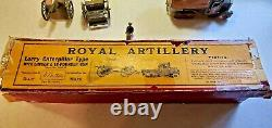 Vintage W. Britians Royal Artillery Lorry Caterpillar Type With Limber & 18 Pound