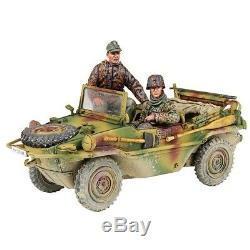 W Britain 25051 WWII German Type 166 Schwimmwagen & Crew 12th SS Division 1/30