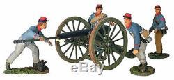 W Britain Acw #17669 Confederate Artillery Set No. 1 10 Pound Parrot Retired