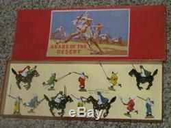 W Britain Arab Display Nib Arabs Of The Desert Toy Soldier 12 Pc Set Wb Britains