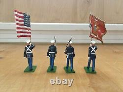 W Britain Limited Edition Collection #17917 United States Marine Corps 4 Pcs