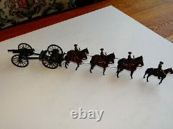 W. Britain Royal Horse Artillery gun carriage and mounted officer