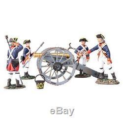 W Britain Soldiers 16015 British Royal Artillery 6 Pound Gun with 4 Man Crew