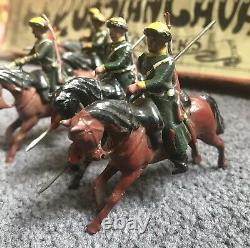 W Britains #136 Imperial Russian Cossacks w Lances at Gallop WHISSTOCK BOX