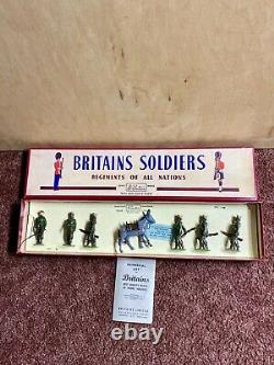 W Britains Soldiers Indian Army Service Corps #1893 Pre-Owned