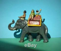 Wend-al Unbreakable Toys Solid Aluminium Elephant Ride Vintage 1948 Very Rare