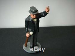 Wend-al Unbreakable Toys Solid Aluminium Winston Churchill Vintage 1948 V Rare