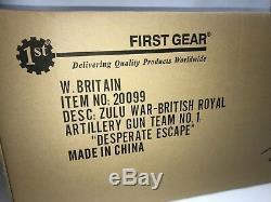 William Britain Desperate Escape 20099 New Britains Zulu War artillery gun team