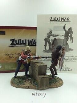 William Britain Zulu Warrior Twilight 24th Foot Bayoneting Zulu Warrior 20084